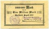 1 Million Mark 1923 Deutschland ~ Burscheid / Kölner Feinleder GmbH ~   95,00 EUR85,50 EUR  +  7,00 EUR shipping