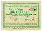 3 Millionen Mark 1923 Deutschland ~ Benrath / Brückenbau Flender AG ~   95,00 EUR85,50 EUR  +  7,00 EUR shipping