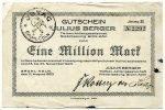 1 Million Mark 1923 Deutschland ~ Brühl-Köln / Julius Berger Tiefbau-AG... 195,00 EUR175,50 EUR  +  7,00 EUR shipping