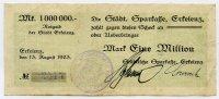 1 Million Mark 1923 Deutschland ~ Notgeld der Stadt Erkelenz / Städtisc... 75,00 EUR67,50 EUR  zzgl. 5,00 EUR Versand