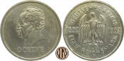 WEIMARER REPUBLIK. 5 Reichsmark 1932D Sehr...