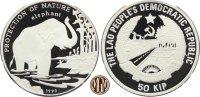 50 Kip 1993 LAOS. Naturschutz, Asiatischer Elephant.  PP  30,00 EUR  zzgl. 5,00 EUR Versand