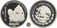 500 Pesos 1985 MEXIKO. 75 Jahre Mexikanische Revolution. PP  40,00 EUR  zzgl. 5,00 EUR Versand