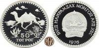 50 Tögrög/Tugrik 1976 MONGOLEI. 15 Jahre WWF, Wildkamel. PP  55,00 EUR  zzgl. 5,00 EUR Versand