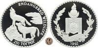 250 Tögrög/Tugrik 1992 MONGOLEI. Bedrohte Tierwelt, zwei Mongolische Wö... 45,00 EUR  zzgl. 5,00 EUR Versand