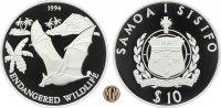 10 Tala 1994 WEST-SAMOA. Bedrohte Tierwelt, Samoa-Flughund. PP  45,00 EUR  +  10,00 EUR shipping