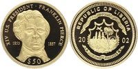 50 Dollars 2002 LIBERIA. Präsidenten der USA, Franklin Pierce (14., 185... 85,00 EUR