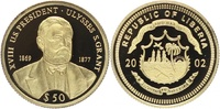 50 Dollars 2002 LIBERIA. Präsidenten der USA, Ulysses S. Grant (18., 18... 85,00 EUR