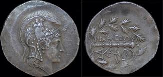tetradrachm ca 160BC Ionia Ionia Herakleia ad Latmon AR stephanephoric tetradrachm EF