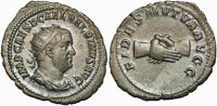 Roman antoninianus Balbinus AR antoninianus clasped hands