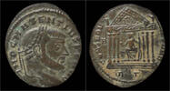 Roman follis Maxentius billon follis Roma in hexastyle temple