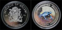 10 kwacha 2010 Malawi Malawi- 10 kwacha 2010- Endangered frogs- Blue po... 20,00 EUR  zzgl. 2,00 EUR Versand