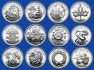 12 x 25 CENTS 2000 KANADA MILLENIUM AUSGABE DER ROYAL CANADIEN MINT PP  110,00 EUR  + 15,00 EUR frais d'envoi
