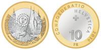 10 SCHWEIZER FRANKEN 2014 SCHWEIZ GANSABHAUET - SCHWEIZER BRAUCHTUM PP  37,50 EUR