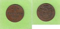 1 Pfennig 1825 Waldeck und Pyrmont überdurchschnittlich ss-vz  22,00 EUR  zzgl. 1,50 EUR Versand