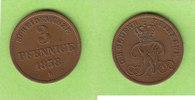 Oldenburg Birkenfeld 3 Pfennige 1858 ss-vz/fast vz selten, hübsch 35,00 EUR  zzgl. 3,50 EUR Versand