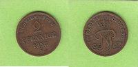 Oldenburg Birkenfeld 2 Pfennige 1858 sehr schön selten 22,00 EUR  zzgl. 1,50 EUR Versand
