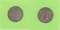 Hessen-Darmstadt 1 Kreuzer 1819 vz-st/vz+ toll erhalten, selten in diese... 58,00 EUR  zzgl. 3,50 EUR Versand