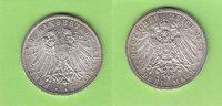 Lübeck 3 Mark 1914 fast Stempelglanz toll erhalten, sehr selten 280,00 EUR  plus 5,00 EUR verzending