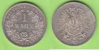 1 Mark 1874 G Kaiserreich sehr hübsch vz-st  95,00 EUR  plus 4,00 EUR verzending