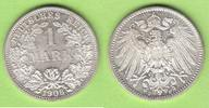 1 Mark 1906 F Kaiserreich toll erhalten vz-st/st  28,00 EUR  plus 2,00 EUR verzending