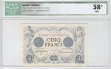 5 Francs 1873 France Noir - Nov 1873 vz+  2350,00 EUR kostenloser Versand