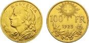 1925-B Switzerland Confederation Gold 100 Francs UNC