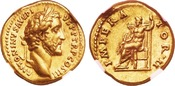 AD 138-161. Roman Empire Antoninus Pius Gold Aureus,Rome. NGC AU 5/5 - 5/5