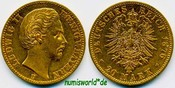 20 Mark 1876  Bayern - 20 Mark - 1876 vz