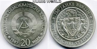 20 Mark 1987  DDR - 20 Mark - 1987 Stg