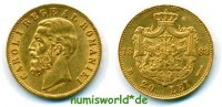 20 Lei 1883 Rumänien Rumänien - 20 Lei - 1883 vz  710,00 EUR  +  17,00 EUR shipping