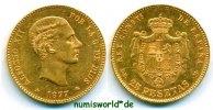 25 Pesetas 1877 Spanien Spanien - 25 Pesetas - 1877 f. Stg  500,00 EUR  +  17,00 EUR shipping