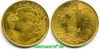 10 Franken 1922 Schweiz Schweiz - 10 Franken - 1922 vz+  163,00 EUR  + 17,00 EUR frais d'envoi