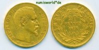 Frankreich 20 Francs 1858 ss Frankreich - 20 Francs - 1858 270,00 EUR 