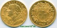 20 Franken 1927 Schweiz Schweiz - 20 Franken - 1927 Stg  276,00 EUR  Excl. 17,00 EUR Verzending