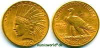 10 Dollars 1910 USA USA - 10 Dollars - 1910 ss  /  vz  861.17 US$ 781,00 EUR  +  35.28 US$ shipping