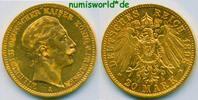 20 Mark 1898  Preussen - 20 Mark - 1898 ss+  /  vz+  333,00 EUR  zzgl. 6,00 EUR Versand