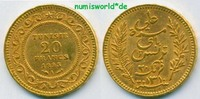 Tunesien 20 Francs 1893 vz Tunesien - 20 Francs - 1893 311,00 EUR 