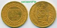 20 Francs 1893 Tunesien Tunesien - 20 Francs - 1893 vz  263,00 EUR  + 17,00 EUR frais d'envoi