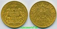 20 Mark 1894  Hamburg - 20 Mark - 1894 ss  /  ss+  394.71 US$ 345,00 EUR  +  36.61 US$ shipping