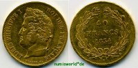 Frankreich 40 Francs 1834 ss/vz Frankreich - 40 Francs - 1834 734,00 EUR 
