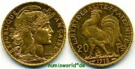 20 Francs 1913 Frankreich Frankreich - 20 Francs - 1913 vz+  294,00 EUR  + 17,00 EUR frais d'envoi