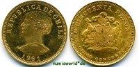 50 Pesos 1961 Chile Chile - 50 Pesos - 1961 f. Stg  365,00 EUR  +  17,00 EUR shipping