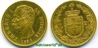 20 Lire 1881 Italien Italien - 20 Lire - 1881 vz+  272,00 EUR  zzgl. 6,00 EUR Versand