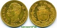 20 Lire 1882 Italien Italien - 20 Lire - 1882 45 g/900 Gold vz+  280,00 EUR  Excl. 17,00 EUR Verzending
