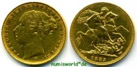 Australien 1 Sovereign 1885 vz Australien - 1 Sovereign - 1885 399,00 EUR 