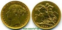 1 Sovereign 1885 Australien Australien - 1 Sovereign - 1885 vz  420,00 EUR  zzgl. 6,00 EUR Versand