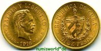 10 Pesos 1916 Cuba Cuba - 10 Pesos - 1916 f. Stg  940,00 EUR  zzgl. 6,00 EUR Versand