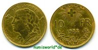 Schweiz 10 Franken 1922 ss Schweiz - 10 Franken - 1922 163,00 EUR 