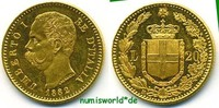 20 Lire 1882 Italien Italien - 20 Lire - 1882 f. Stg  285,00 EUR  + 17,00 EUR frais d'envoi